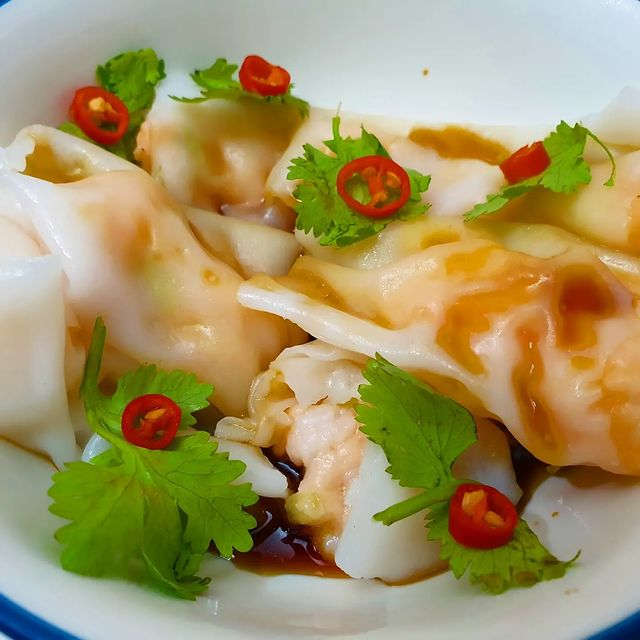Steamed prawn rice roll 鲜蝦肠粉 😋🤤 #朝ごはん # #delicious #相機食先 #hkfood #和食 #essen # #lo...