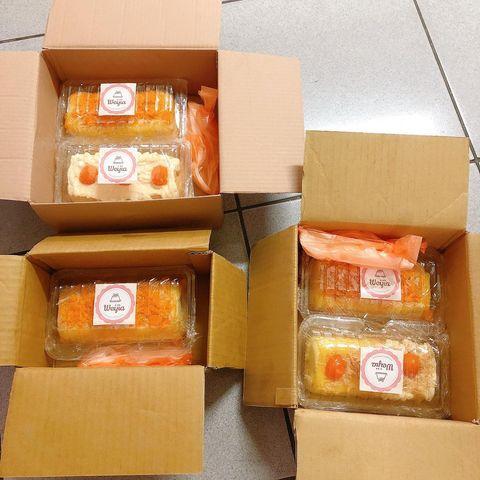 🎂🍳BÔNG LAN TRỨNG MUỐI - 200Kuai/hộp. (Một phần bánh đã có sẵn trứng muối, chà bôn...
