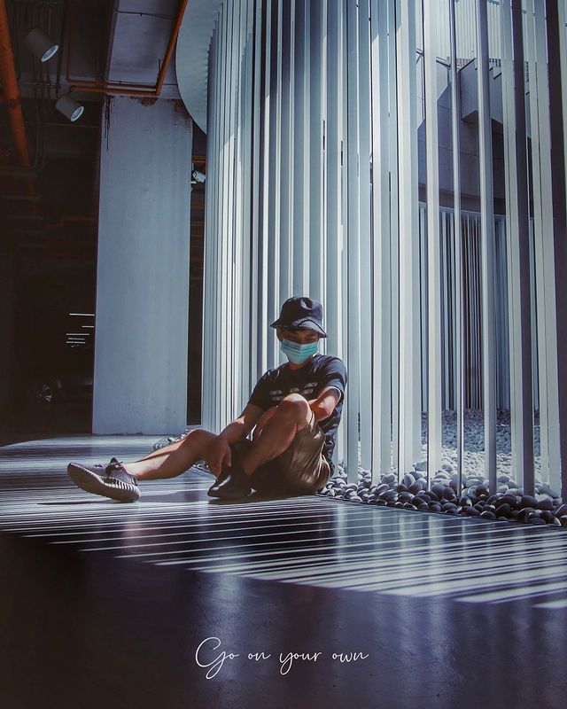 疫情當前 人潮車潮明顯減少 好吧繼續過著挖圖的日子 #台南 #台南景點 #台南旅遊 #台南美術館二館 #台南市美術館2館