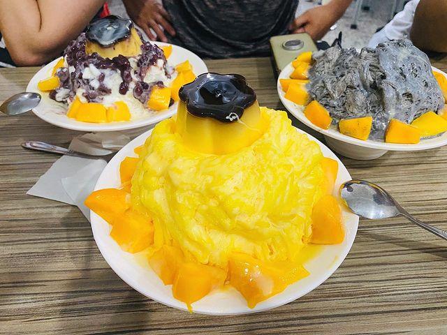 芒果鮮果布丁 - mang guo xian guo bu ding (マンゴープリンかき氷) #taiwan #taiwanfood #taiwanfoodi...