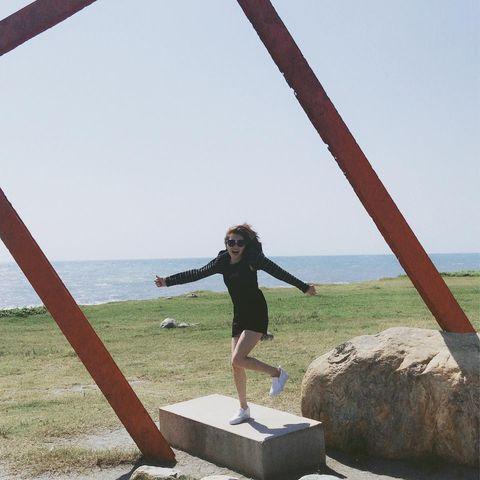 真是想念這風光明媚好山好水好地方~ 覺得可以置產在這裡養老~ 一看就知道哥在模仿櫻木花道,有誰知道我在模仿什麼呢~ #台東景點 #太平洋公園 #台東櫻木花道平...