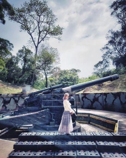 舊式大炮拍起來意外的有種復古美😍😍 好喜歡💕💕 照片是4月份去玩拍的 現在疫情嚴重只能發發之前拍的照片再回味一下旅遊的回憶了😂😂 大家都要加油! #trav...