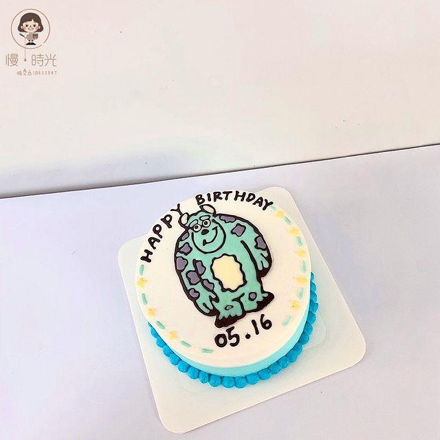 6吋手繪蛋糕 怪獸電力公司-毛怪😆 / 6月開放訂購唷🥰 - IG小盒子與臉書粉絲專頁不回覆有關訂購蛋糕訊息 訂購蛋糕請Line🔍zhq9067e (要加@) -...