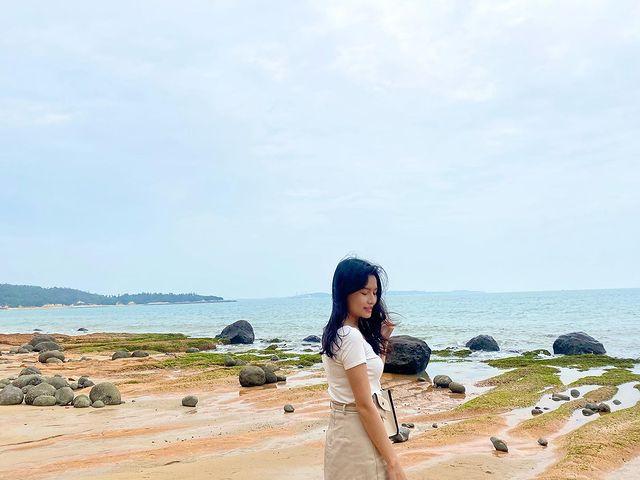綠石槽不是只有老梅有 小金門的也很美麗😍 #taiwan #taiwantravel #kinmen #kinmentravel #ocean #oceanvi...