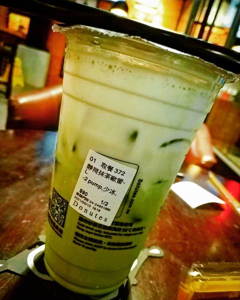 🍵🍵🍵 🔸🔸🔸🔸🔸🔸🔸🔸🔸🔸🔸🔸🔸🔸🔸🔸 Donutes Cafe/#靜岡抹茶歐蕾 /90元 🔸🔸🔸🔸🔸🔸🔸🔸🔸🔸🔸🔸🔸🔸🔸🔸 整體評分:71 (滿分100,85...