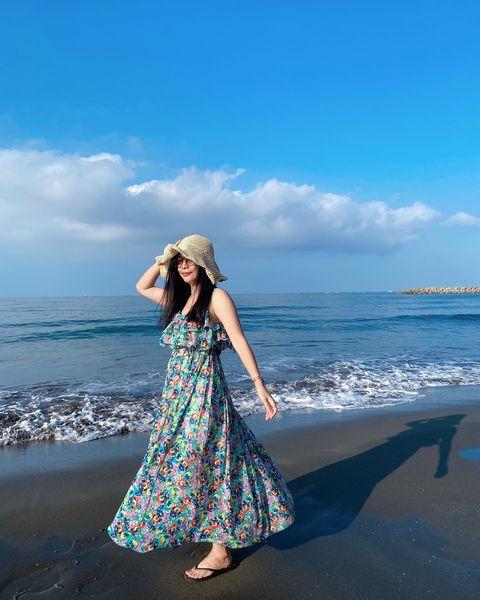 💙💙💙 I like the blue sea that makes people happy😁 台南 ~我又來了🥰 💙 💙 💙 💙 #漁光島 #台南 #...